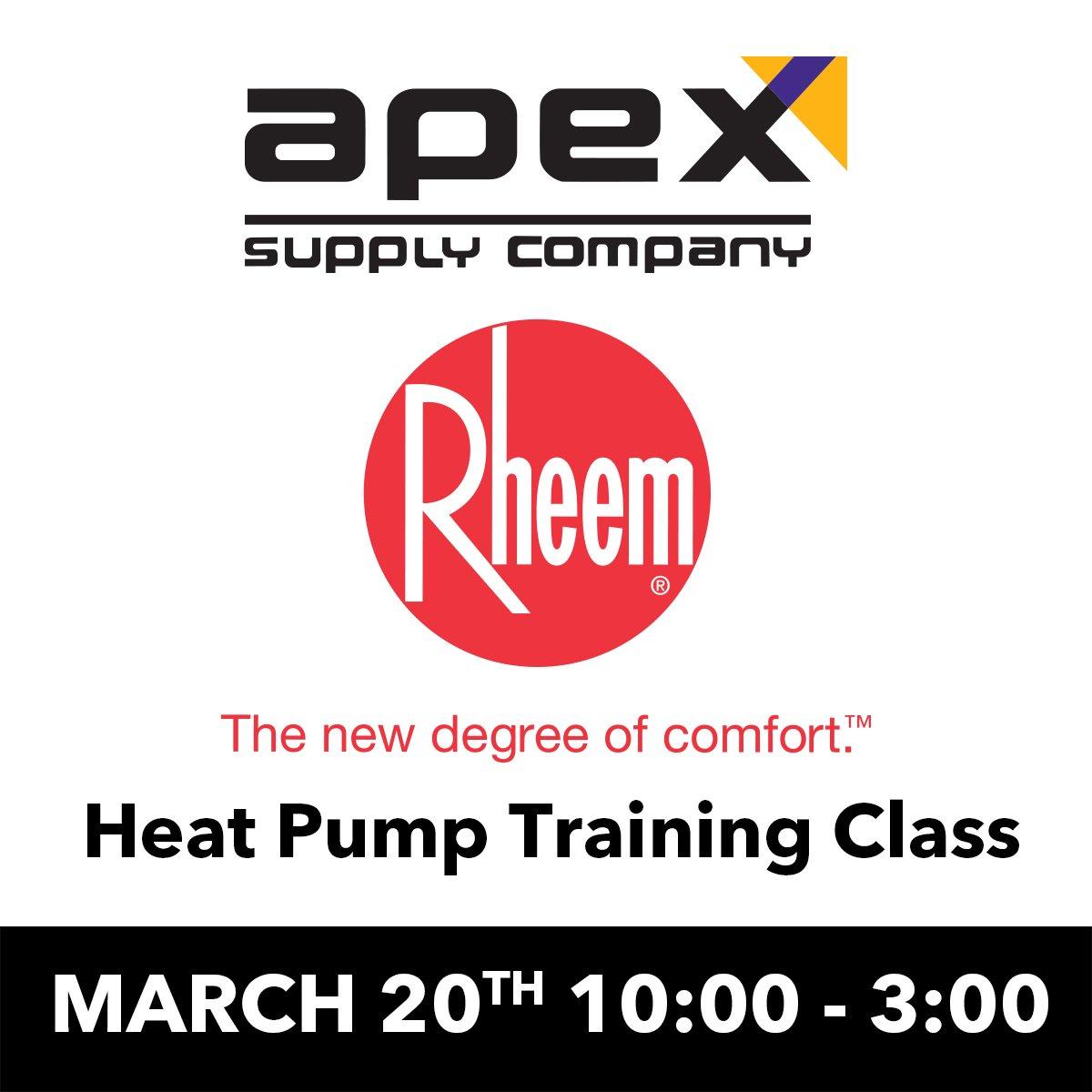 Rheem Heat Pump Training Class - Apex Supply   Marietta, GA
